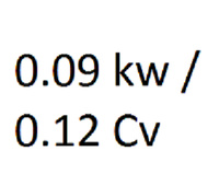 0.09 KW / 0.12 CV