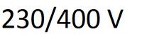 230/400 V