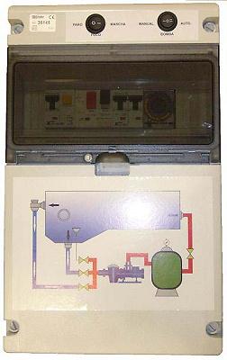 CUADRO ELÉCTRICO DE PROTECCIÓN PISCINA CON 1 TRANSFORMADOR C5IDTR 0.5CV 1X230v